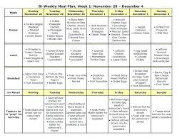 Bi Weekly Meal Planner Template The Nourishing Home Meal Plan Diet And Exercise Journal Template For