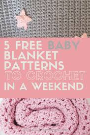 Crochet Patterns For Baby Blankets Amazing Design