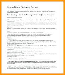 Newspaper Obituary Template Free Sample Obituary Template Format For Newspaper Obituaries Fake