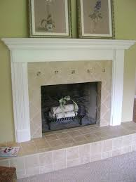 tile fireplace traditional living room