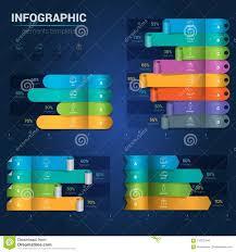 Modern Horizontal Bar Chart Infographics Creative