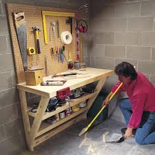 Garage Workbench Design Ideas 14 Super Simple Workbenches You Can Build The Family Handyman