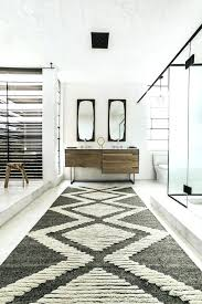 southwestern bathroom rugs with and double sinks rug runner wall mirrors window wood fun transitional also