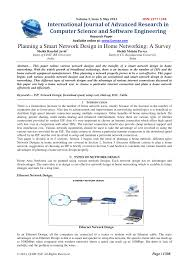Network Design Paper Pdf Planning A Smart Network Design In Home Networking A