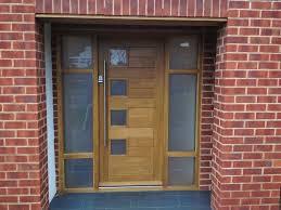 nice front doorsSmart Silver Steel Handle Then Exterior Semi Transparent Glass