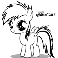 My Little Pony Rainbow Dash Pictures Free Download