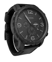 fossil men s jr1354 nate stainless steel chronograph watch fossil men s jr1354 nate stainless steel chronograph watch black leather band bossman watches