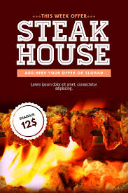Barbecue Flyers Bbq Barbecue Steak Grill Business Flyer Template Postermywall