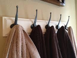 Fabulous Black Metal Unique Towel Hooks Design Ideas For Bathroom - Bathroom towel design