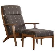 hans j wegner high back chair and ottoman model ge290 for
