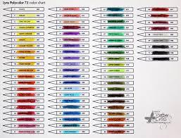 Prismacolor Pencils 72 Color Chart Prismacolor 150