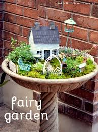 i first had to find a birdbath to put the fairy garden in i ordered this one from home depot and it i love the look of it it looks like stone