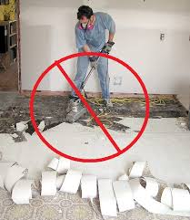 fortunately he s not really removing asbestos it s just a good don