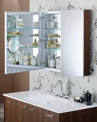 magnifying mirror with light in Bathroom Contemporary with