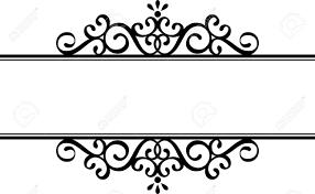 Vignette Design Decorative Vignette Silhouette In Black Isolated On White Background