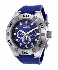 invicta specialty men s quartz watch invicta mens 50mm specialty quartz stainless steel blue polyurethane strap watch