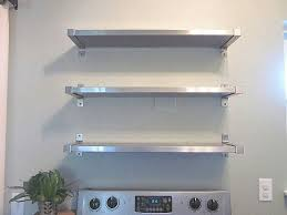 Open Shelving Stainless Steel Shelving From Ikea Wall Mounted Kitchen Shelves Ikea Kitchen Shelves Kitchen Shelf Sometimes Daily Stainless Steel Shelving From Ikea Ideas For The House Pinterest