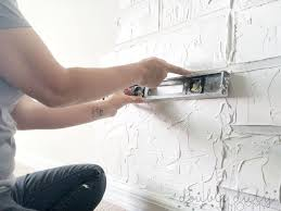 diy faux brick wall easy and