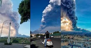 Resultado de imagen para Alerta! erupción del volcán Etna en Italia