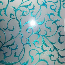 colour crystal etching on glass