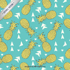 Pineapple Pattern Extraordinary Pineapples Pattern Vector Free Download
