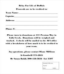 Donations Form Template Clothing Donation Form Template