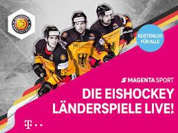 Nach dem auftakt am 21. Magenta Sport Die Eishockey Landerspiele Live Im Freetv Deutsche Telekom