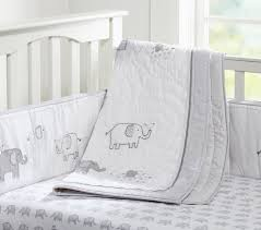 crib bedding sets with pers taylor elephant baby set pottery barn kids