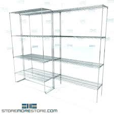 6 inch deep wire shelving wide shelf free dock to