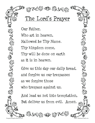 our father prayer colouring page daring our father prayer for kids sheet lords white that resource