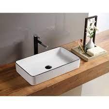 hometure ceramic rectangular vessel