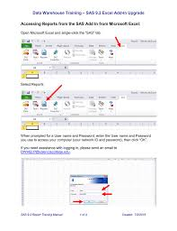 Microsoft Office Reports Running Reports Using The Sas Microsoft Office Add In