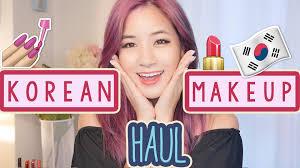 kim dao shares a huge korean makeup haul