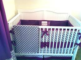 grey and white nursery bedding image of ideas purple crib sets chevron decoration items
