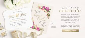 invitations announcements and photo cards basic invite real foil wedding invitations