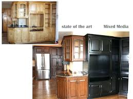 painting vs staining kitchen cabinets painted vs stained cabinets
