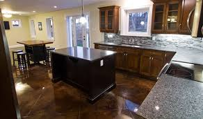 Stained Concrete Floors traditional-kitchen