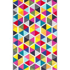 nuloom maris triangles multi 5 ft x 8 ft area rug