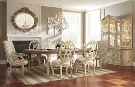 Oval Table Dining Room Sets Oval Dining Table With Carved Legs Stretchers By American Drew