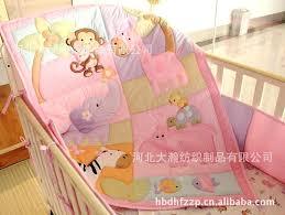 cotton baby bedding set embroidery elephant a zebra monkey hippopotamus bird crib quilt bed skirt etc zebra crib bedding