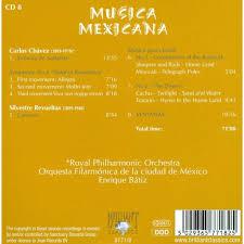 Musica mexicana romantica mix : Musica Mexicana 8 Royal Philharmonic Orchestra Mexican State Symphony Orchestra Enrique Batiz De Chavez Revueltas Cd Chez Melomaan Ref 119252737