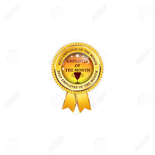 Employee Of The Month Award Employee Of The Month Elegant Golden Black Award Ribbon