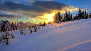 Winter Sunset Wallpaper #6933654
