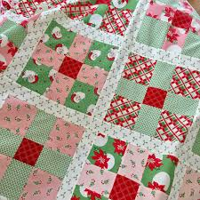 Christmas Quilt Patterns Amazing Uneven 48Patch Quilt Pattern Featuring Swell Christmas
