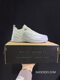 Men Jordan 12 Low Retro Georgetown White Grey Shoes Free