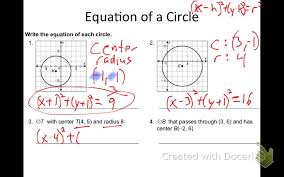 section 11 7 circles in the coordinate plane