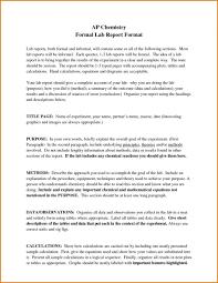 Form Samples New Chemistry Lab Report Example Inherwake