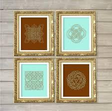 celtic home decor knot design printable wall art brown set of 4 instant meval digital celtic home decor