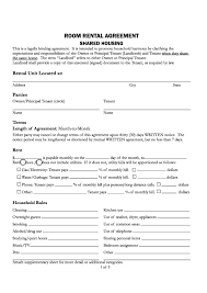 Rental Agreement Download Free California Room Rental Agreement Printable Lease 10