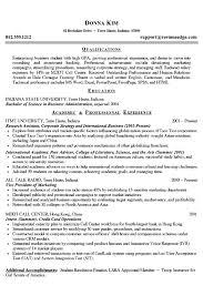 Resume Example For College Student Sonicajuegos Com